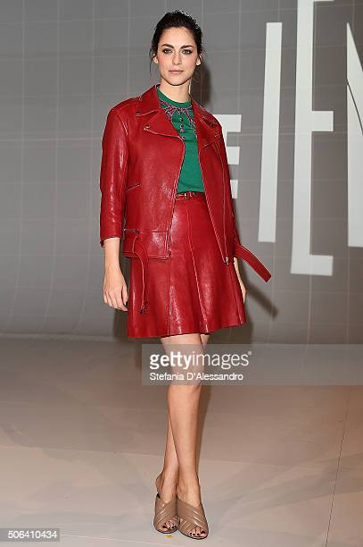 Miriam Leone attends 'Le Iene' Tv Show photocall held at Mediaset Studios on January 23 2016 in Milan Italy