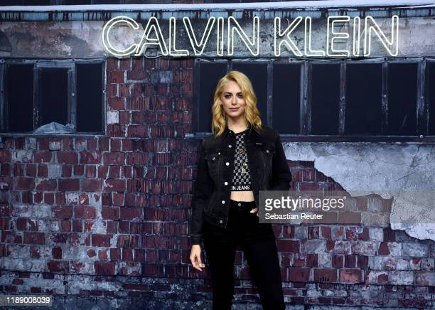 """Miriam Leone attends the Calvin Klein """"A Night of Music, Discovery and Celebration"""" event on November 20, 2019 in Berlin, Germany."""