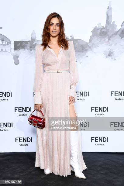 Miriam Leone attends the Cocktail at Fendi Couture Fall Winter 2019/2020 on July 04 2019 in Rome Italy