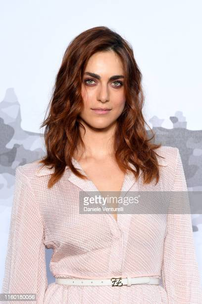 Miriam Leone attends the Cocktail at Fendi Couture Fall Winter 2019/2020 on July 04, 2019 in Rome, Italy.