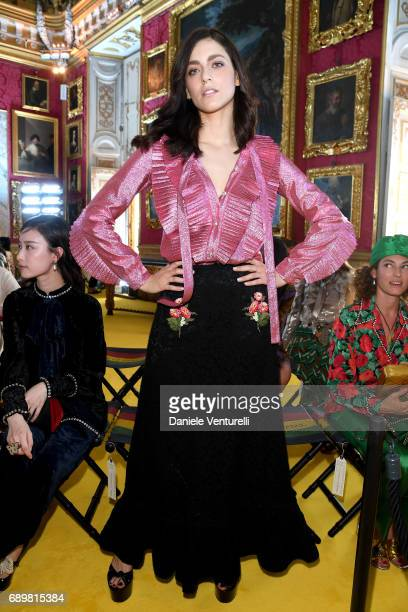 Miriam Leone attends the Gucci Cruise 2018 fashion show at Palazzo Pitti on May 29 2017 in Florence Italy