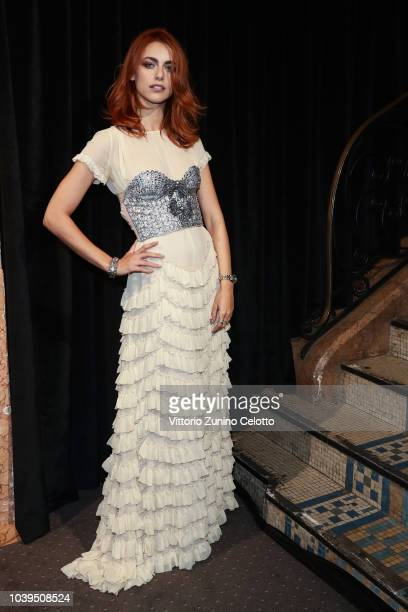 Miriam Leone attends the Gucci show during Paris Fashion Week Spring/Summer 2019 on September 24 2018 in Paris France