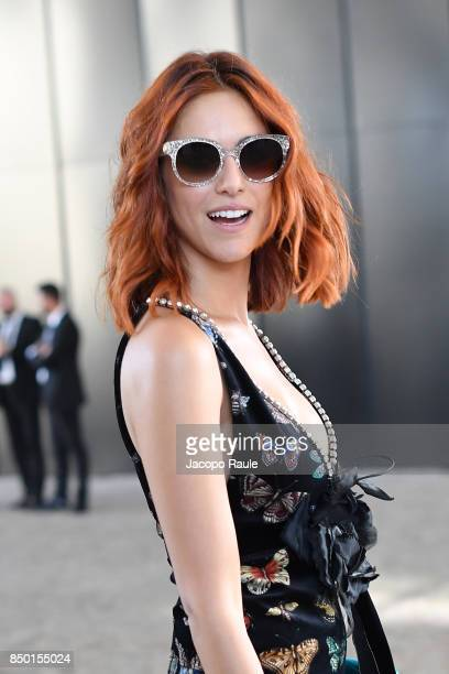 Miriam Leone is seen leaving the Gucci show during Milan Fashion Week Spring/Summer 2018 on September 20 2017 in Milan Italy