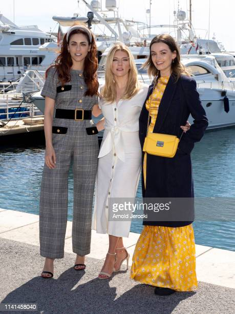 Miriam Leone, Katheryn Winnick and Emma Mackey attends the Jury photocall on day five of the 2nd Canneseries International Series Festival, on April...