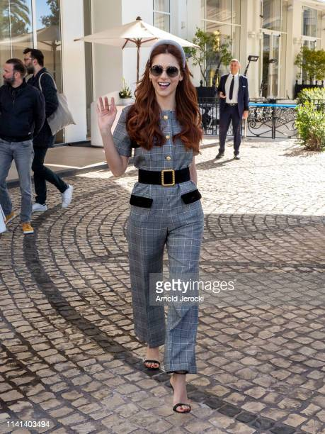 Miriam Leone leaves the hotel on day five of the 2nd Canneseries International Series Festival on April 09 2019 in Cannes France