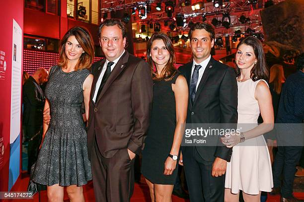 Miriam Mack Michael Mack AnnKathrin Mack Thomas Mack and Katja Mack attend the Deutscher Gruenderpreis on July 5 2016 in Berlin Germany