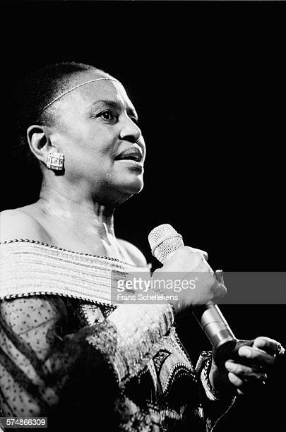 Miriam Makeba, vocal, performs on May 28th 1996 at the Melkweg in Amsterdam, the Netherlands.