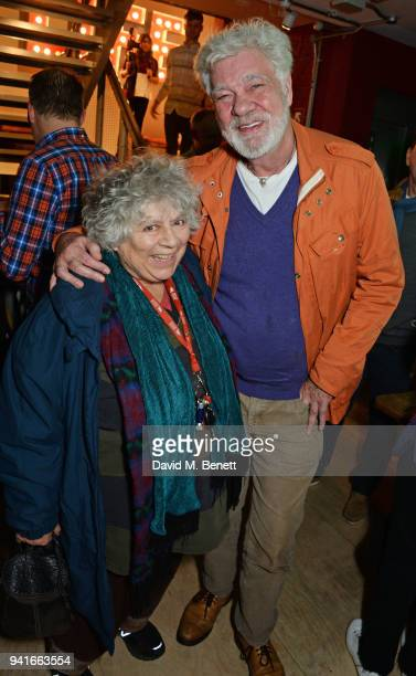 Miriam Margolyes and Matthew Kelly attend the press night performance of Pressure at The Park Theatre on April 3 2018 in London England