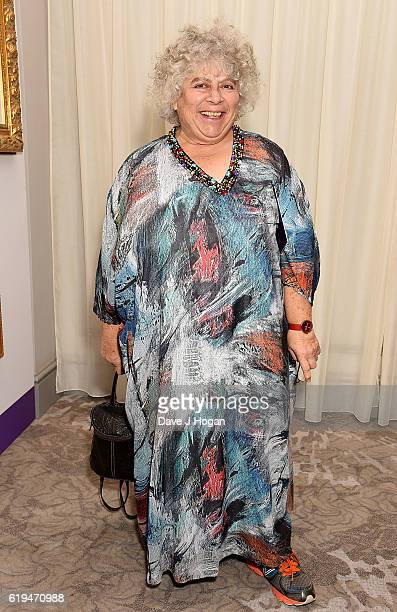 Miriam Margolyes attends the Daily Mirror Pride of Britain Awards in Partnership with TSB at The Grosvenor House Hotel on October 31 2016 in London...