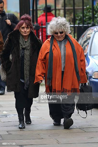Miriam Margolyes attends the funeral of Roger LloydPack at St Paul's Church in Covent Garden on February 13 2014 in London England