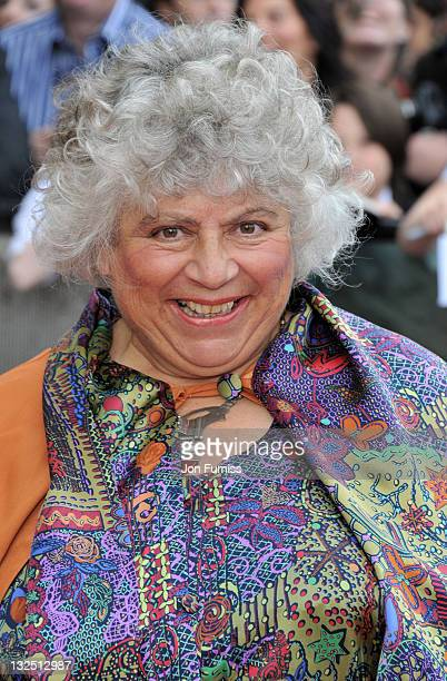 Miriam Margolyes attends the Harry Potter And The Deathly Hallows Part 2 world premiere at Trafalgar Square on July 7 2011 in London England