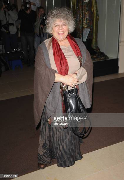 Miriam Margolyes attends the London Evening Standard Theatre Awards at the Royal Opera House on November 23 2009 in London England