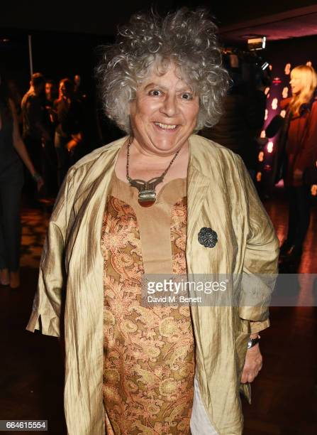 Miriam Margolyes attends the opening night after party for 42nd Street in aid of the East Anglia Children's Hospice at One Embankment on April 4 2017...