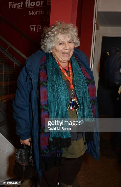 Miriam Margolyes attends the press night performance of Pressure at The Park Theatre on April 3 2018 in London England