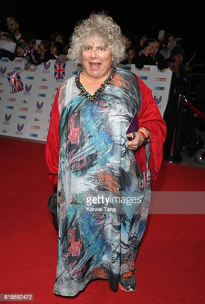 Miriam Margolyes attends the Pride Of Britain Awards at The Grosvenor House Hotel on October 31 2016 in London England