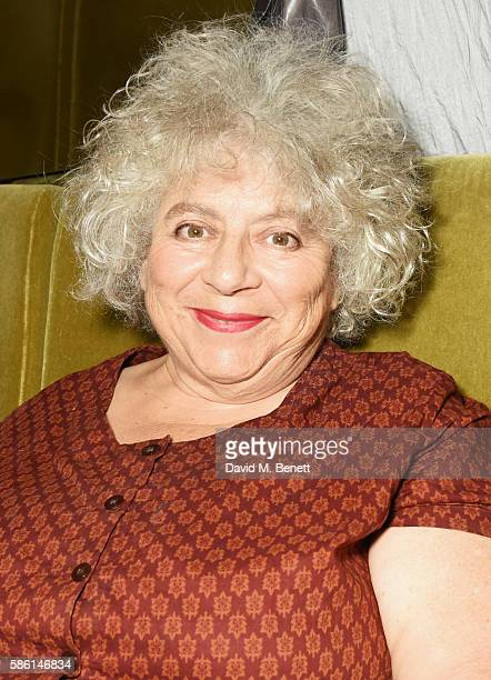 Miriam Margolyes attends the UK Premiere of The Carer at the Regent Street Cinema on August 5 2016 in London England