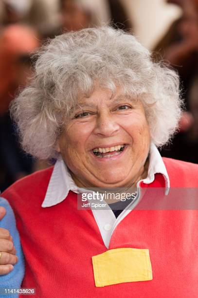 Miriam Margolyes attends the Where is Peter Rabbit gala performance at Theatre Royal Haymarket on April 09 2019 in London England