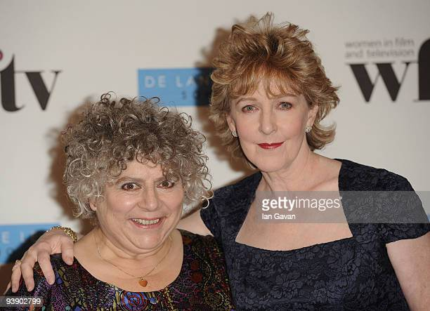 Miriam Margolyes poses with Patricia Hodge at the Women In Film And TV Awards>> at London Hilton on December 4 2009 in London England