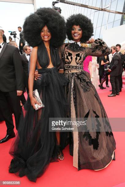 Miriam Odemba and a guest attend the screening of The Wild Pear Tree during the 71st annual Cannes Film Festival at Palais des Festivals on May 18...