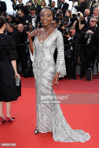 Miriam Odemba attends the Closing Ceremony of the 70th annual Cannes Film Festival at Palais des Festivals on May 28 2017 in Cannes France