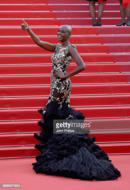 Miriam Odemba attends the screening of 'Capharnaum' during the 71st annual Cannes Film Festival at Palais des Festivals on May 17 2018 in Cannes...