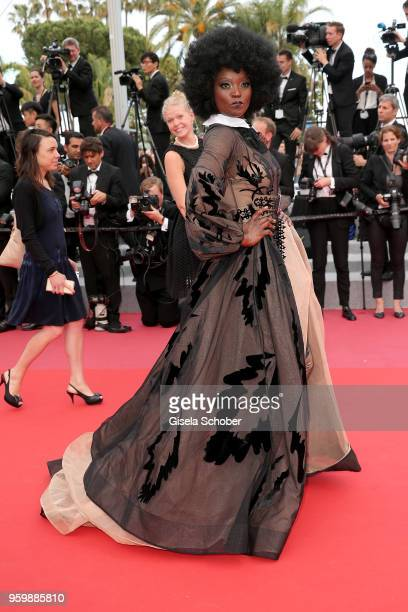 Miriam Odemba attends the screening of The Wild Pear Tree during the 71st annual Cannes Film Festival at Palais des Festivals on May 18 2018 in...