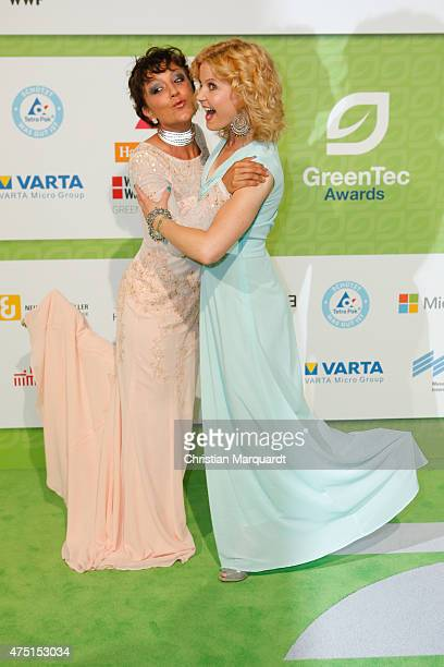Miriam Pielhau and Eva Imhof attends the GreenTec Awards 2015 at Tempodrom on May 29 2015 in Berlin Germany