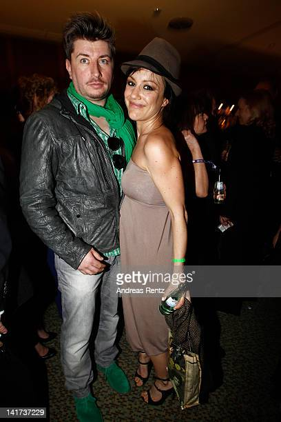 Miriam Pielhau and partner Thomas Hanreich attend the Echo Awards 2012 party at Palais am Funkturm on March 22 2012 in Berlin Germany