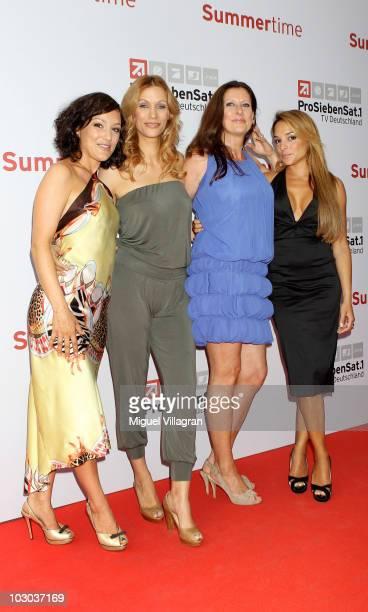 Miriam Pielhau, Yasmina Filali, Birgit Ehrenberg and Estefania Kuester attend the 'ProSiebenSat.1 Summertime' Photocall on July 22, 2010 in Munich,...