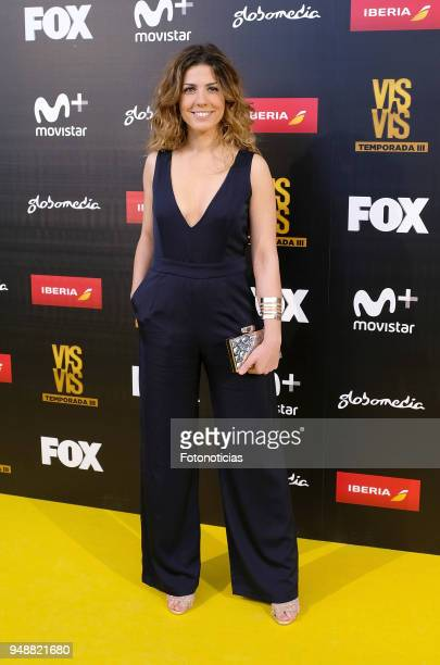 Miriam Rodriguez attends the premiere of 'Vis a Vis' at Capitol Cinema on April 19 2018 in Madrid Spain