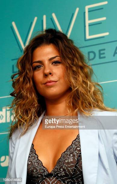 Miriam Rodriguez attends Vive Dial festival photocall on September 8 2018 in Madrid Spain