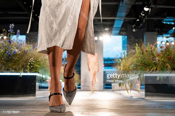 Miriam Sanchez shoe detail walks the runway for the Jason Wu Collection during New York Fashion Week The Shows at Pier 17 on September 08 2019 in New...