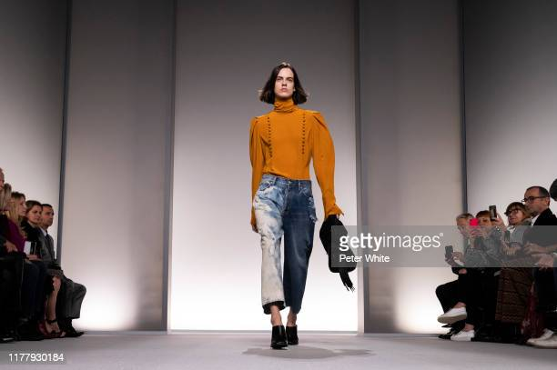 Miriam Sanchez walks the runway during the Givenchy Womenswear Spring/Summer 2020 show as part of Paris Fashion Week on September 29 2019 in Paris...
