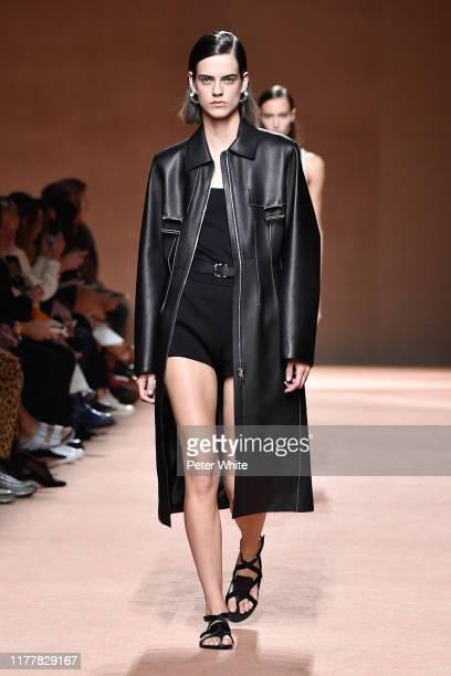 Miriam Sanchez walks the runway during the Hermes Womenswear Spring/Summer 2020 show as part of Paris Fashion Week on September 28 2019 in Paris...