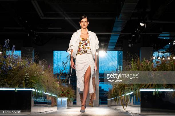 Miriam Sanchez walks the runway for the Jason Wu Collection during New York Fashion Week The Shows at Pier 17 on September 08 2019 in New York City