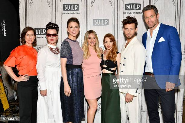 Miriam Shor Debi Mazar Sutton Foster Hilary Duff Molly Bernard Nico Tortorella and Peter Hermann visit Build to discuss Younger at Build Studio on...