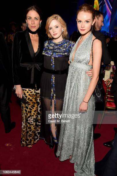 Miriam Shor Ellie Bamber and Rona Morison attend The 64th Evening Standard Theatre Awards after party at the Theatre Royal Drury Lane on November 18...