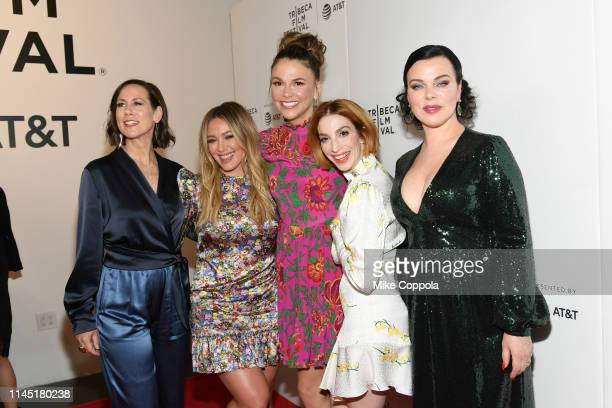 Miriam Shor Hilary Duff Sutton Foster Molly Kate Bernard and Debi Mazar pose for a photo at Tribeca TV Younger at Spring Studio on April 25 2019 in...