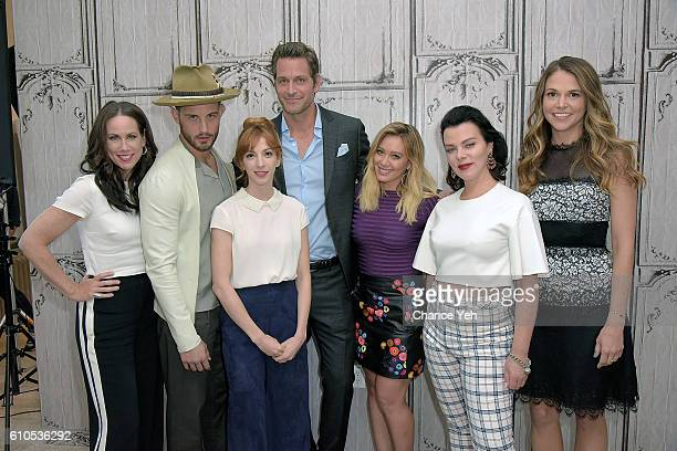Miriam Shor Nico Tortorella Molly Bernard Peter Hermann Hilary Duff Debi Mazar and Sutton Foster attend The Build Series to discuss Younger at AOL HQ...