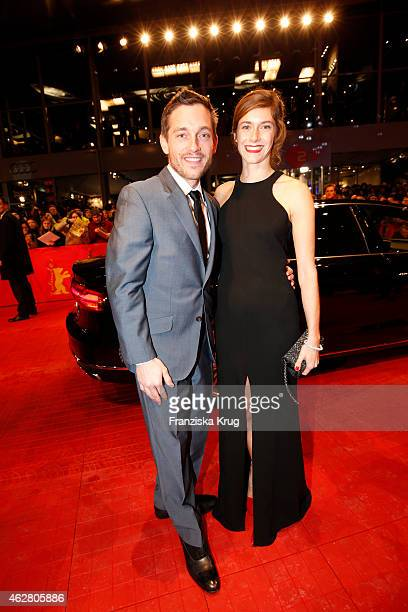 Miriam Stein and guest attend the 'Nobody Wants the Night' premiere during the 65th Berlinale International Film Festival on February 05, 2015 in...