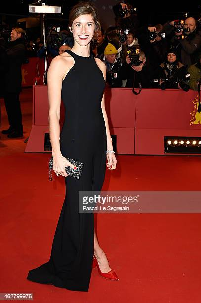 Miriam Stein attends the 'Nobody Wants the Night' Opening Night premiere during the 65th Berlinale International Film Festival at Berlinale Palace on...