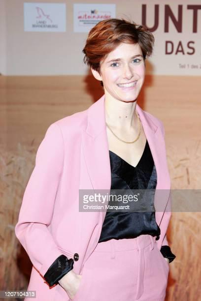 """Miriam Stein attends the preview of """"Unterleuten - Das zerissene Dorf"""" at Vertretung des Landes Brandenburg beim Bund on February 18, 2020 in Berlin,..."""