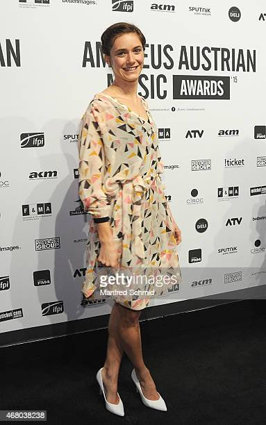 Miriam Stein poses for a photograph during the Amadeus Austrian Music Awards 2015 at Volkstheater on March 29, 2015 in Vienna, Austria.