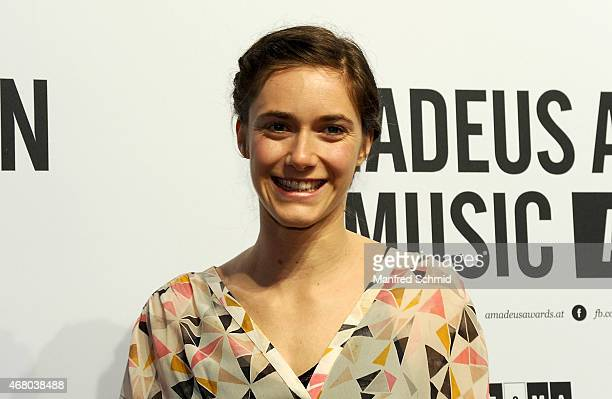 Miriam Stein poses for a photograph during the Amadeus Austrian Music Awards 2015 at Volkstheater on March 29 2015 in Vienna Austria