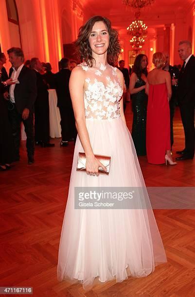 Miriam Stein wearing a dress by Caviar Gauche during the 26th ROMY Award 2015 at Hofburg Vienna on April 25, 2015 in Vienna, Austria.
