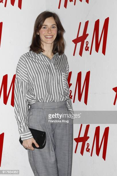Miriam Stein wearing H&M during the Inter/VIEW X H&M Party on February 13, 2018 in Berlin, Germany.