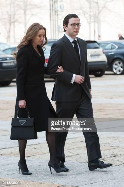Miriam Ungria and Boris of Bulgaria attend the the mass to mark the 25th Anniversary of the Count of Barcelona's death the monastery of El Escorial...