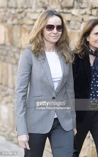 Miriam Ungria attends the funeral service for her husband Prince Kardam of Bulgaria on the first anniversary of his death at Santos Andres and...