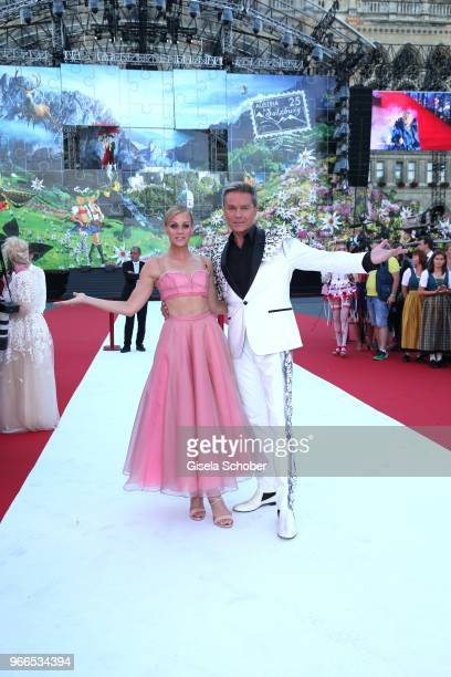 Miriam Weichselbraun, Alfons Haider during the Life Ball 2018 at City Hall on June 2, 2018 in Vienna, Austria. The Life Ball, an annual charity event...