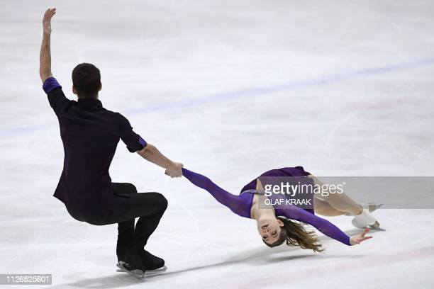 Miriam Ziegler and Severin Kiefer from Austria compete during the Challenge Cup Figure Skating event in The Hague on February 23 2019 / Netherlands...